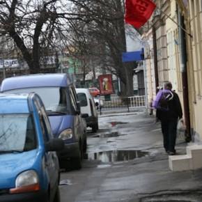 Червоний прапор на вул. Куліша