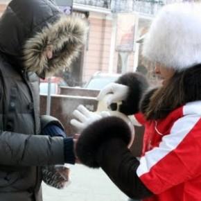 Несподіване тепло серед морозного міста