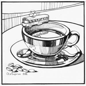 кава і трамвай